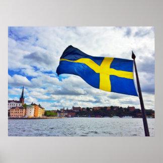 Sweden flag poster