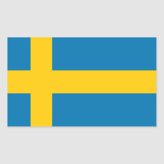 SWEDEN FLAG RECTANGULAR STICKER