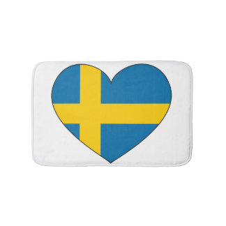 Sweden Flag Simple Bath Mats