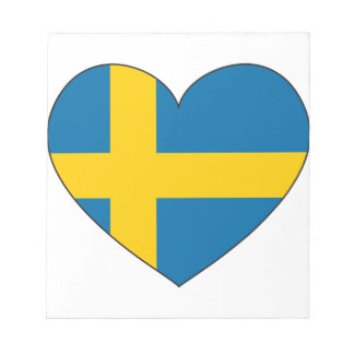 Sweden Flag Simple Notepad