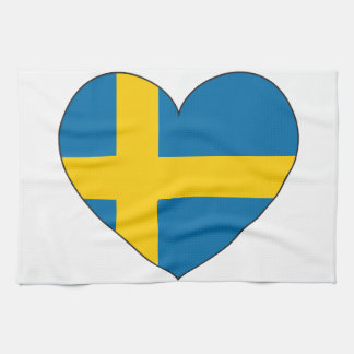 Sweden Flag Simple Tea Towel