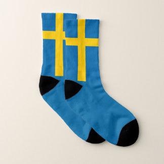 Sweden flag socks