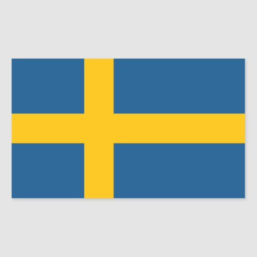 Sweden Flag Rectangle Stickers
