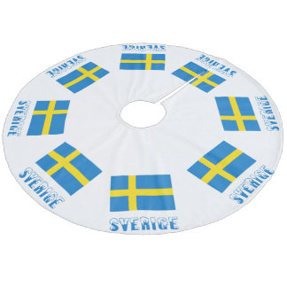 Sweden Flag & Sverige Fleece Tree Skirt