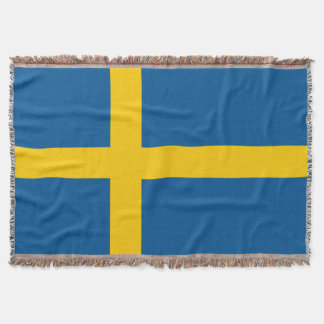 Sweden Flag Throw Blanket