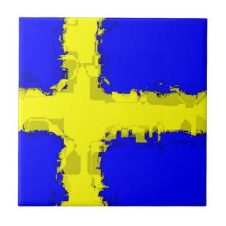 SWEDEN FLAG Tile