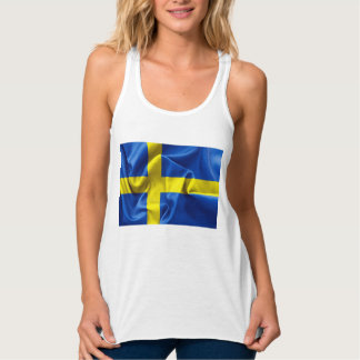 Sweden Flag Women's Tank Top