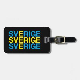 SWEDEN LUGGAGE TAG