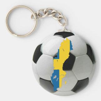 Sweden national team basic round button key ring