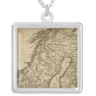 Sweden, Norway 3 Silver Plated Necklace