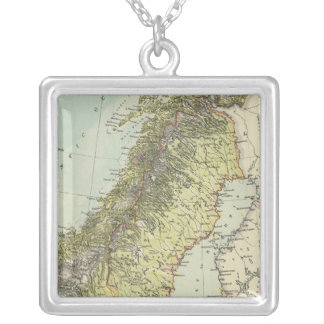 Sweden, Norway, Denmark Silver Plated Necklace