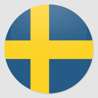 Sweden quality Flag Circle Classic Round Sticker