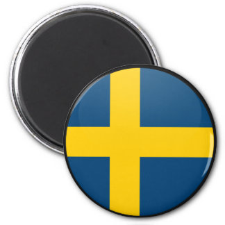 Sweden quality Flag Circle Fridge Magnet