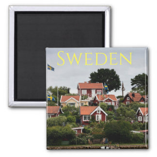 Sweden Red Houses Souvenir Magnet
