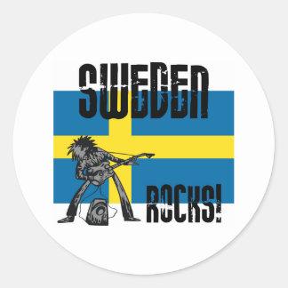 Sweden Rocks Classic Round Sticker