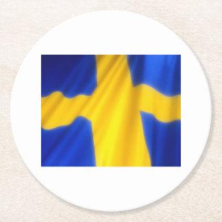 SWEDEN ROUND PAPER COASTER