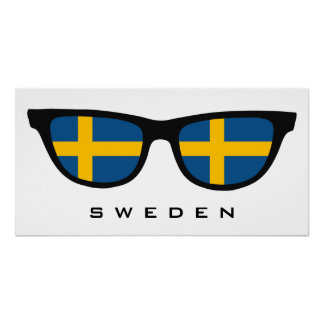Sweden Shades custom text & color poster