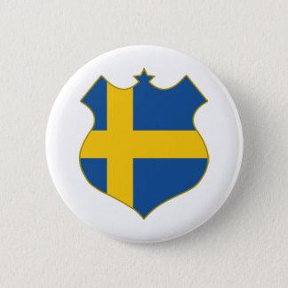 Sweden-shield.png 6 Cm Round Badge