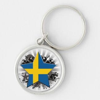 Sweden Star Key Ring