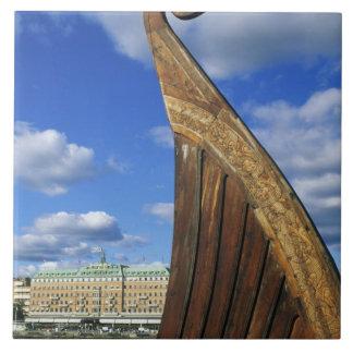 Sweden, Stockholm, harbor, from Gamla Stan, Tile