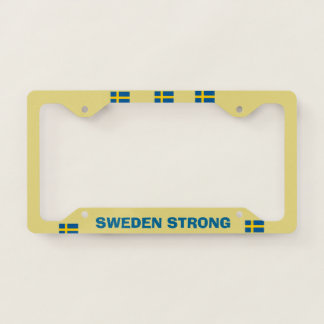 Sweden Strong License Plate Frame