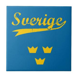 Sweden, Sverige, 3 crowns Ceramic Tile