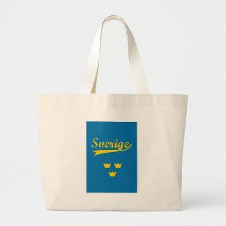 Sweden, Sverige, 3 crowns Large Tote Bag