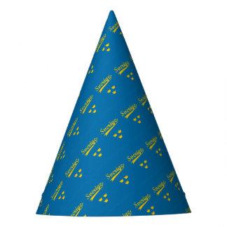 Sweden, Sverige, 3 crowns Party Hat