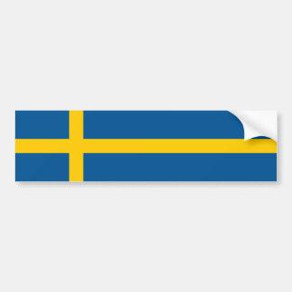 Sweden/Swede/Swedish Flag Bumper Sticker