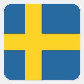 Sweden/Swede/Swedish Flag Square Sticker