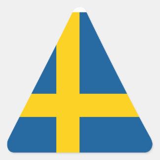 Sweden/Swede/Swedish Flag Triangle Sticker