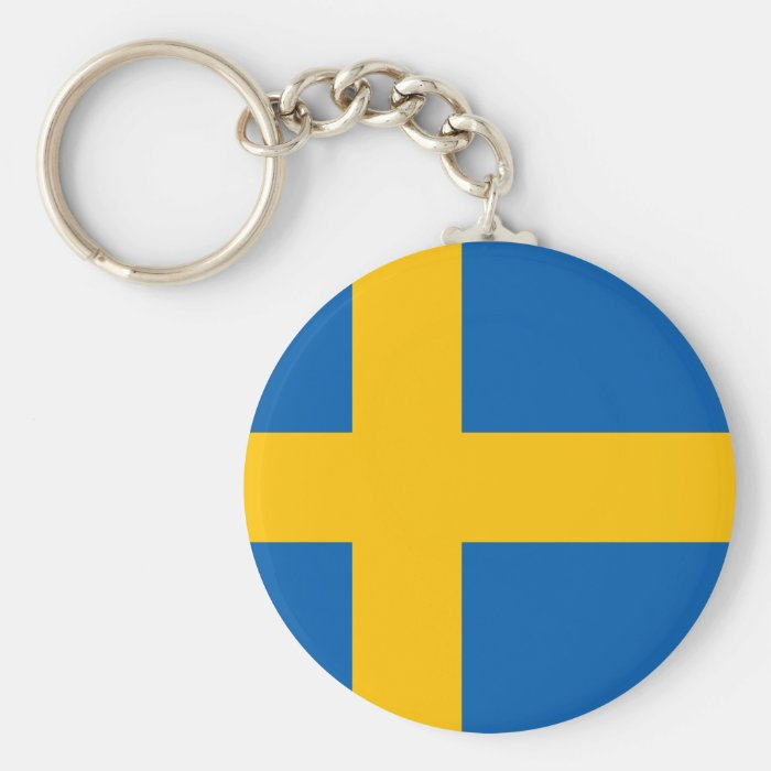 Sweden - Swedish National Flag Basic Round Button Key Ring