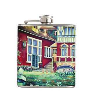 Sweden, Traditional Landscape Hip Flask