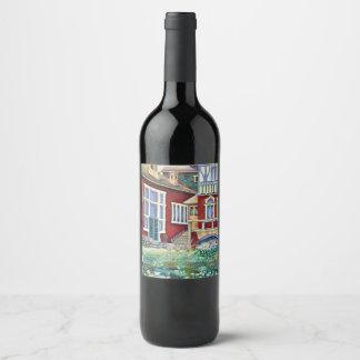 Sweden, Traditional Landscape Wine Label