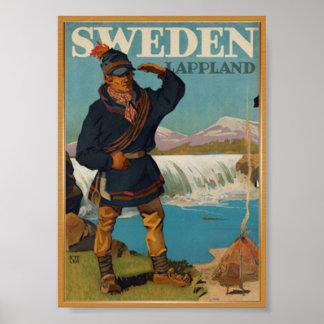 Sweden travel vintage poster
