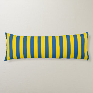 Sweden Ukraine flag stripes lines pattern blue yel Body Cushion