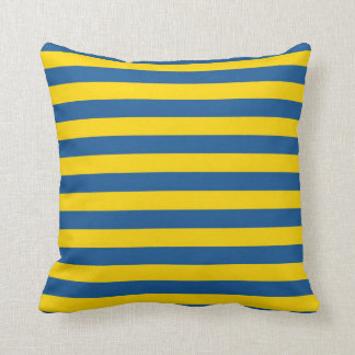 Sweden Ukraine flag stripes lines pattern blue yel Cushion