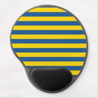 Sweden Ukraine flag stripes lines pattern blue yel Gel Mouse Pad