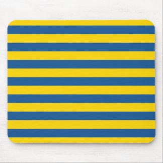 Sweden Ukraine flag stripes lines pattern blue yel Mouse Pad