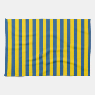 Sweden Ukraine flag stripes lines pattern blue yel Tea Towel