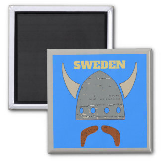 Sweden, Viking Head Magnet