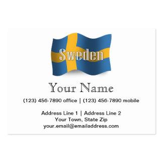 Sweden Waving Flag Business Cards