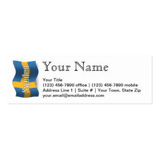 Sweden Waving Flag Business Card Template