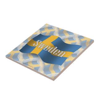 Sweden Waving Flag Tiles