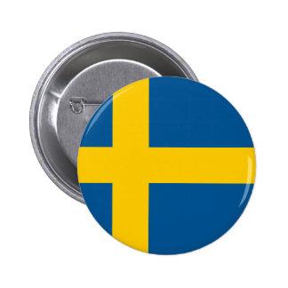 Sweden's Flag 6 Cm Round Badge