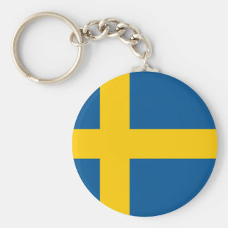 Sweden's Flag Basic Round Button Key Ring