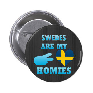 Swedes are my Homies Button