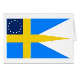 Swedish-American Flag Greeting Card