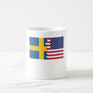 Swedish American Flag Coffee Mug