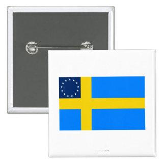 Swedish-American Flag Pinback Button
